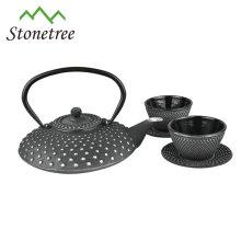 Juego de té de té de Kungfu de olla de hierro fundido retro de salud