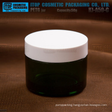 KJ-A50-C 50g hot-selling color customizable translucent thick dark green plastic jar
