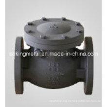 Válvula de retención de 125 libras de brida de hierro fundido