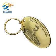 Llavero de encargo al por mayor barato del metal del esmalte del logotipo de encargo de alta calidad