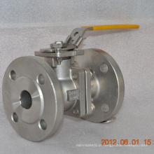 venda quente 2 vias flange de aço inoxidável tipo válvula de esfera preço de fábrica
