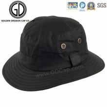 Casual Clásico Negro en blanco Patrón personalizado logotipo Bucket Hat