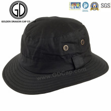 Casual Classic Black Blank Customized Pattern Logo Bucket Hat