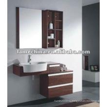 Деревянный венге настенный шкаф для ванной комнаты