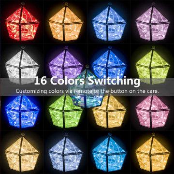 Luces de cuerda de cuerda de 66 pies de cuerda para exteriores