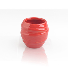 Unique Design Twist Red Ceramic Holder for Wax