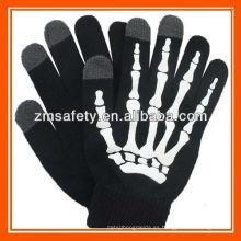 Mensaje de esqueleto Texting Touch Mobile Gloves