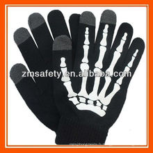 Skeleton Message Texting Touch Gants mobiles