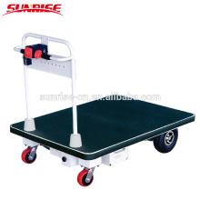Entrepôt de quatre roues 400kg manutention chariots à main plate-forme électrique chariot