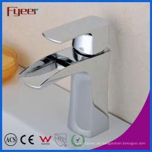 Fyeer Verchromt Einfache Wasserfall Einhand Waschbecken Messing Wasserhahn Wasserhahn Wasserhahn