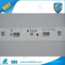 Ausgezeichnete Qualität benutzerdefinierte Druck selbstklebende Sicherheits-Aufkleber Rolle beschichtet Papier Sicherheit Etikett Material mit Glanz