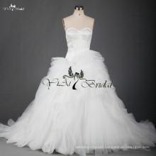 RSW701 Ruffle Patterns Suzhou White Alibaba Wedding Dress Sale