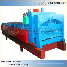 Doppelschicht-Zinkdach-Bahnenwalzen-Formmaschine / Doppeldecker-glasierte Dachziegel-Fliesenherstellungsmaschine