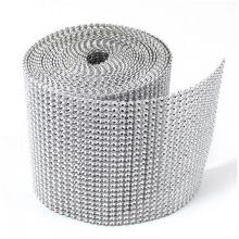 Bling Rhinestone Mesh Trimming Ribbon para la decoración