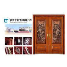 Puerta blindada de madera de acero de estilo turco (LT-505)