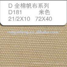 Tela gruesa de sarga 100% algodón de alta calidad de 8oz a 18 oz