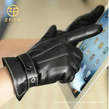 Luvas inteligentes de tela de toque de dedo duas moda nova