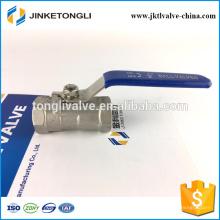 JKTL1B001 control remoto 1pc costo de la válvula de bola de acero inoxidable