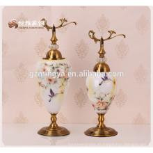 Fábrica de la fuente de flor de jarrón elegante flor pequeña flor de lujo Florero Eletrcoplating Home Decor