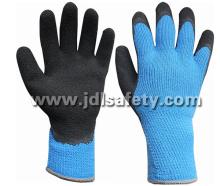 CE Approved Hi-Viz Acrylic Glove of Latex Foam Coating (LY2035B)