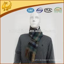 El hilado del tartán de Nepal de la alta calidad teñió la bufanda de la cachemira de los hombres de la cachemira del 100%