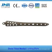 Implante ortopédico da placa medidora tibial distal