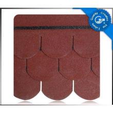 Bardeau de toit d'asphalte d'échelle de poissons / tuile colorée de toit de fibre de verre / matériau de toiture de bitume avec ISO (12 couleurs)