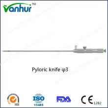 3 мм Лапароскопические инструменты Пилорический нож