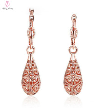 2018 Wholesale Latest Design Dubai Rose 18k Gold Earring, New Saudi Jewelry Locket Pendant 10g Gold Earring