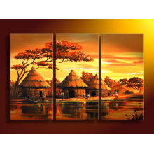 Colorful Stretched Landscape Oil Painting