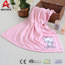 embroidered baby blanket fabric newborn baby blanket