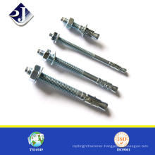 China online shopping high quality carbon steel zinc plated wedge anchor bolt