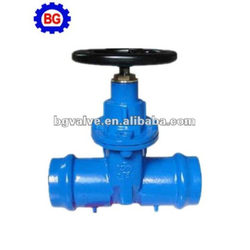 Resilient seated NRS Socket ends gate valve