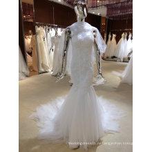 Русалка свадебное платье с тюль шали