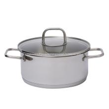 Olla de sopa de acero inoxidable con fondo de 3 capas de utensilios de cocina