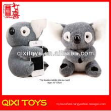 animal soft toys stuffed plush toy koala mobile phone holder