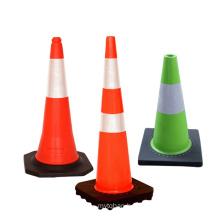 75 cm Reflective Film Black Base Road Traffic Cones With Reflective, PVC Traffic Cone/