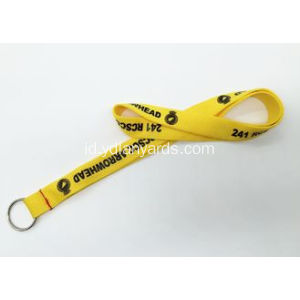 Custom Polyester Silk Screen Lanyards Untuk Club