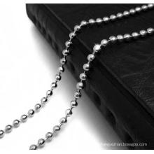 Fashion Accessories Beaded Chain Necklace 316L Stainless Steel