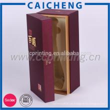 Caja de regalo de embalaje de madera de vino de alto grado