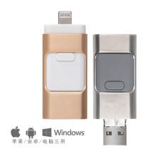 Univeral para Andriod, iPhone e Computador 3 em 1 Unidade Flash USB