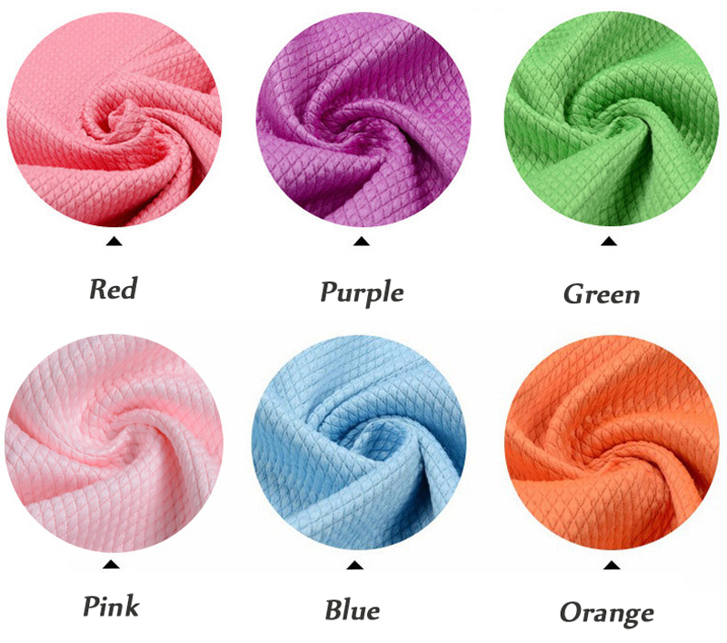 Color Patterns of the Fish Scale Shape Microfiber Towels