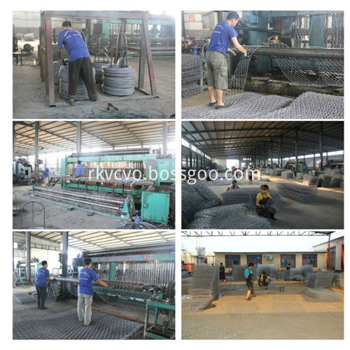 Galvanized/ PVC Coated Hexagonal Mesh Gabion Box