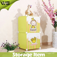2016 DIY Collapsible Kids Toy Plastic Storage Box for Living Room