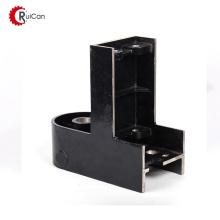 guia de chão de rolo de porta de montagem de parede de canal ajustável