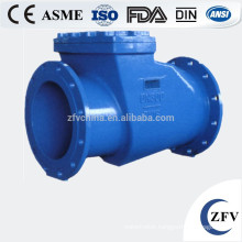 swing horizontal rubber check valve