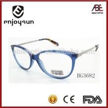 Lady acetato óculos ópticos de óculos com dicas coloridas de alta qualidade