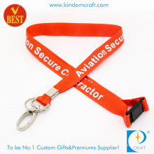 Großhandel Nylon Personal gedruckt Lanyard mit Oval Clip (LY-093)