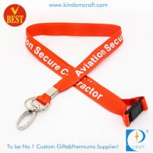 Cordón impreso del personal de nylon de las ventas al por mayor con el clip oval (LY-093)