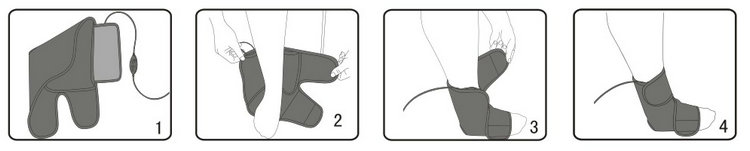 ankle heating pad usage